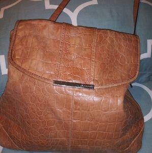 B Makowsky tan 100% leather bag